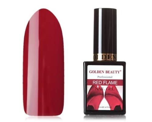 Гель-лак Bluesky Golden Beauty Red Flame №10 (Темно-красный)