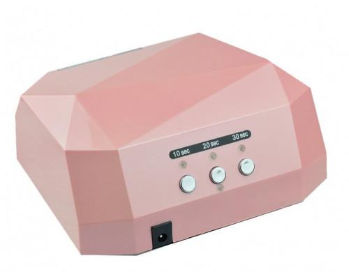 Гибридная лампа CCFL+LED для сушки гель-лака 36W розовая