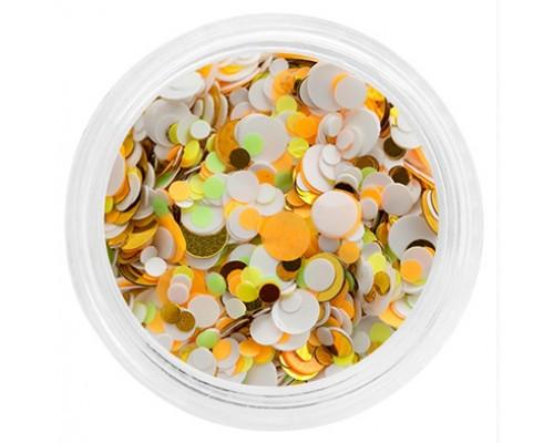 Конфетти-камифубуки №14 (Оранжево-бело-салатовые)