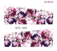 Слайдер для дизайна ногтей STZ-369 (Цветы)