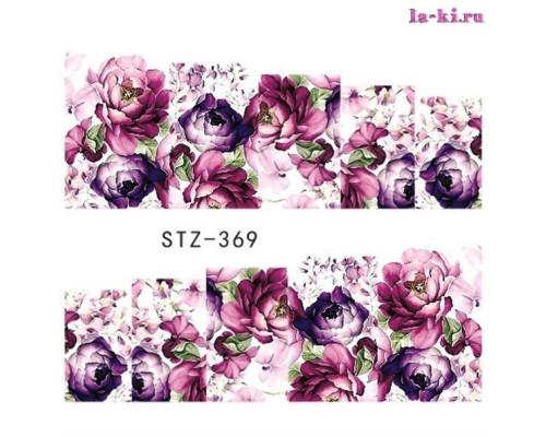 Слайдер для дизайна ногтей STZ-369 (Цветы))