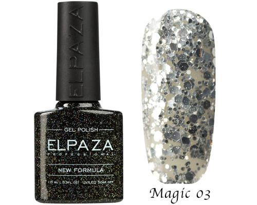 Гель-лак Elpaza 03 Magic Glitter Сияние звезд