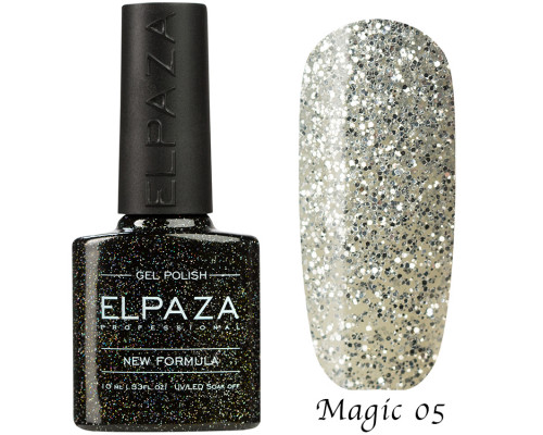 Гель-лак Elpaza 05 Magic Glitter Серебряный водопад