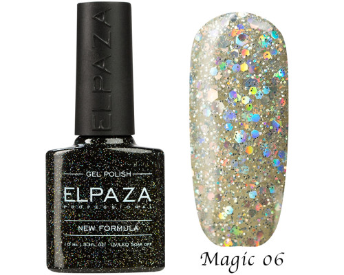 Гель-лак Elpaza 06 Magic Glitter Алмаз