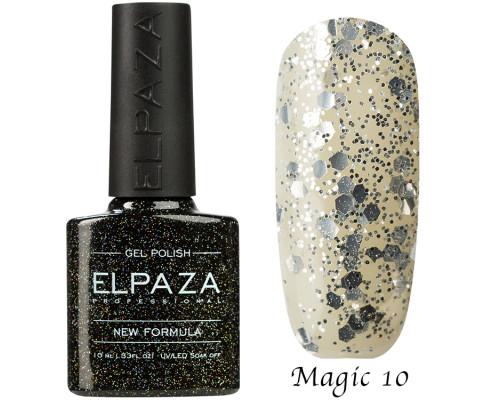 Гель-лак Elpaza 10 Magic Glitter Россыпь звезд