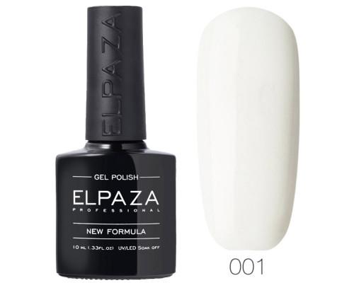 Гель-лак Elpaza 001 Альпийский снег (Белый)