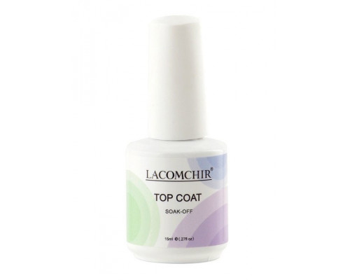 Верхнее покрытие (Топ) Lacomchir Top Coat SOAK-OOf 15 мл