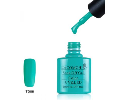 Гель-лак Lacomchir TD 06 (Сине-зеленый)