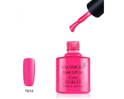 Гель-лак Lacomchir TD 12 (Неоновый розовый)