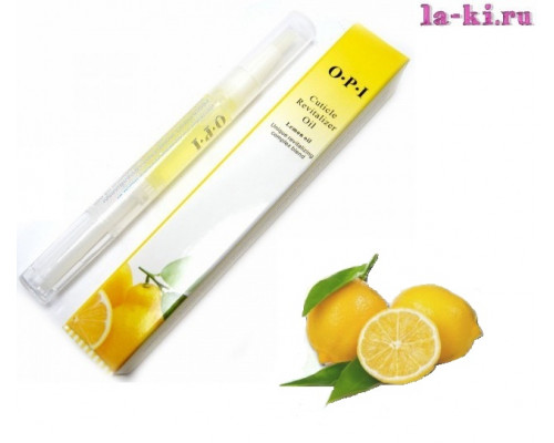 Масло для кутикулы OPI/MDS Cuticle Revitalizer Oil карандаш с кисточкой 5 мл (Лимон)