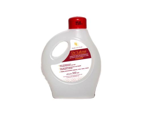 Жидкость De Lakrua Professional для обезжиривания и снятия липкого слоя для ногтей Cleaner 300 мл