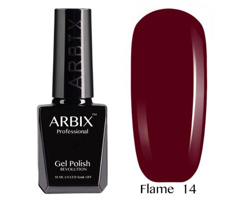 Гель-лак Arbix Flame 14 Гранатовый Фреш