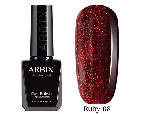 Гель-лак Arbix Ruby 08 Огни Голливуда