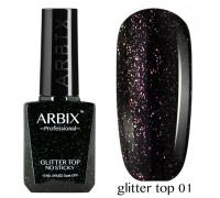 Топ Arbix Glitter Top No Sticky №01 с шиммером, без липкого слоя