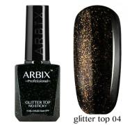 Топовое покрытие Arbix Glitter Top No Sticky №04 (с шиммером, без липкого слоя)