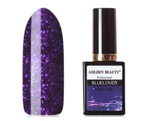 Гель-лак Bluesky Golden Beauty Bluelover №10 (Ярко-фиолетовый с синими и лиловыми блестками)