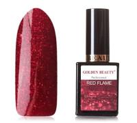 Гель-лак Bluesky Golden Beauty Red Flame №01 (Красный с микроблестками)
