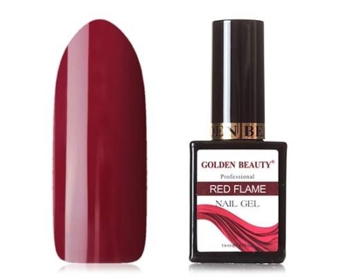 Гель-лак Bluesky Golden Beauty Red Flame №05 (Винно-пурпурный)