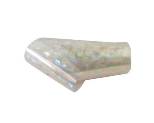Фольга для дизайна ногтей (Прозрачная с перламутром)