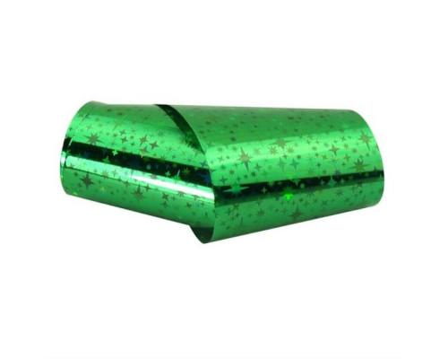 Фольга для дизайна ногтей (Зеленая с узором)