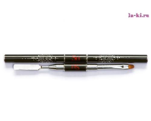 Кисть-пушер SH для моделирования акрил-геля 2 в 1