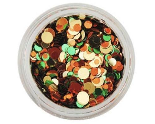 Конфетти-камифубуки №14 (Оранжево-золотые-салатовые)