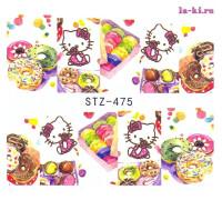 Слайдер для дизайна ногтей Hello-Kitty STZ-475 (Китти-пончики)