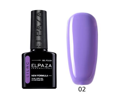 Гель-лак Elpaza 02 Lilac Ласковый прибой (Фиолетово-сиреневый)