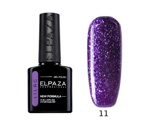 Гель-лак Elpaza 11 Lilac Таинственный (Фиолетовый с блестками)