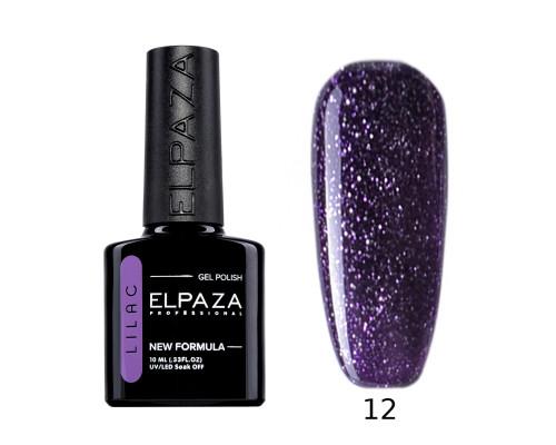 Гель-лак Elpaza 12 Lilac Космический (Сине-фиолетовый с блестками)