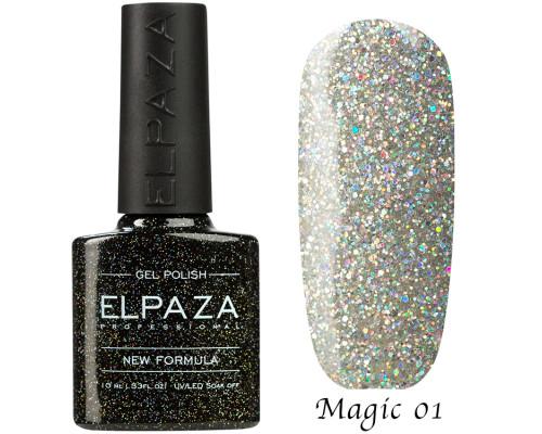 Гель-лак Elpaza 01 Magic Glitter Космическая пыль