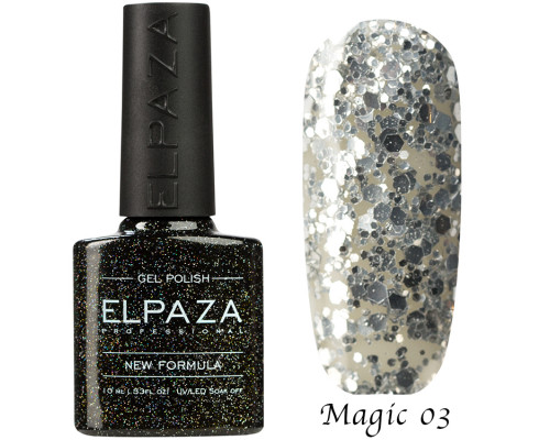 Гель-лак Elpaza 03 Magic Glitter Сияние звезд