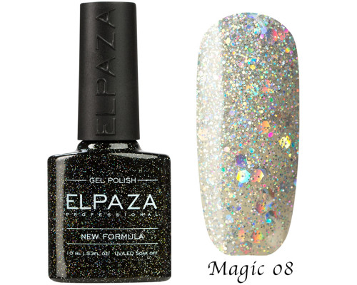 Гель-лак Elpaza 08 Magic Glitter Снегурочка