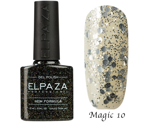 Гель-лак Elpaza 10 Magic Glitter Россыпь звезд