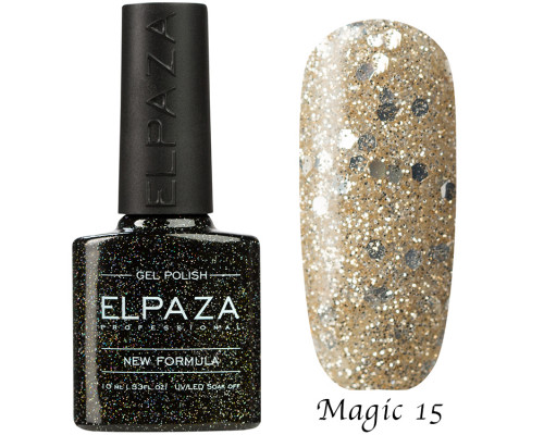 Гель-лак Elpaza 15 Magic Glitter Газировка