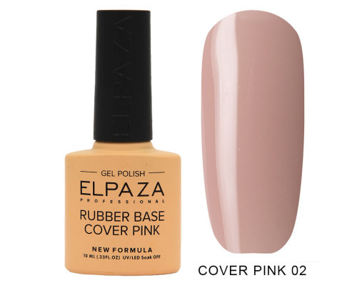 Гель-лак Elpaza 02 Rubber Base Cover Pink