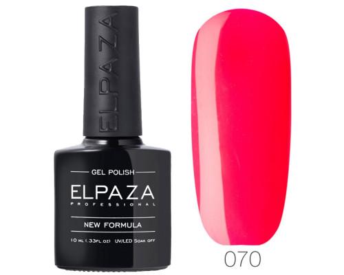 Гель-лак Elpaza 070 Дикая клубника (Красно-розовый)