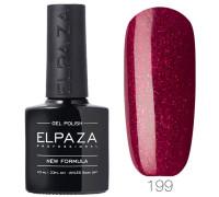 Гель-лак Elpaza 199 Красный бархат (Красный с блестками)