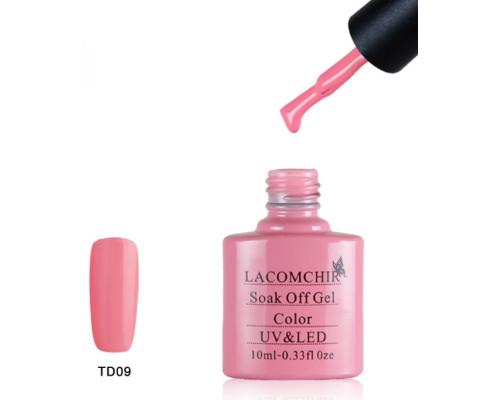 Гель-лак Lacomchir TD 09 (Приглушенный розовый)