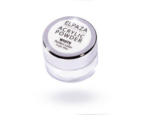 Акриловая пудра Acrylic Powder Elpaza белая (White) 15 г