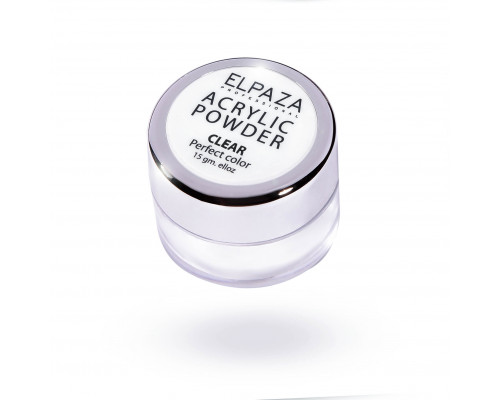 Акриловая пудра Acrylic Powder Elpaza прозрачная (Clear) 15 г