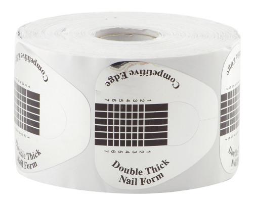 Форма для наращивания широкая серебро 500 шт.