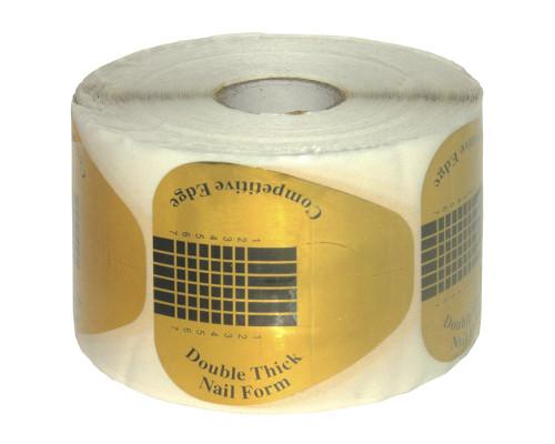 Форма для наращивания широкая золото 500 шт.