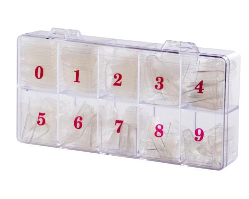 Типсы для наращивания прозрачные 500 шт.
