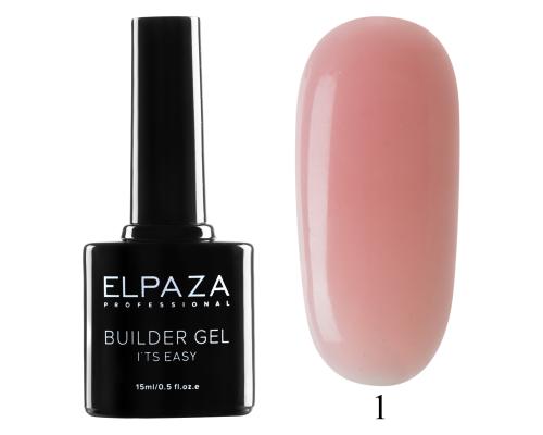 Моделирующий гель Builder Gel it's easy Elpaza 01