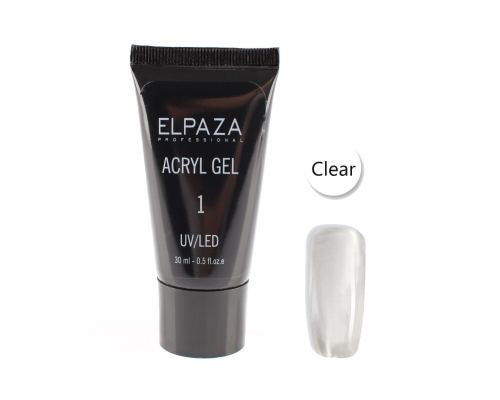 Acryl Gel №1 Elpaza Clear 30 мл