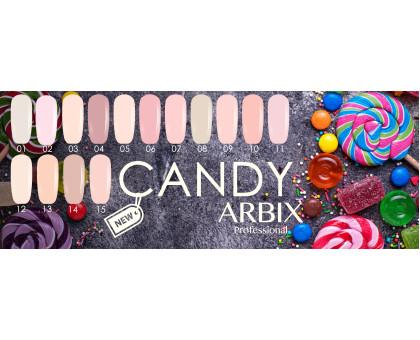 Гель-лаки Arbix серия Candy! 15 новых оттенков!