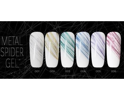 "Дизайн ногтей ""Паутинка"" Metal Spider Gel от SH"