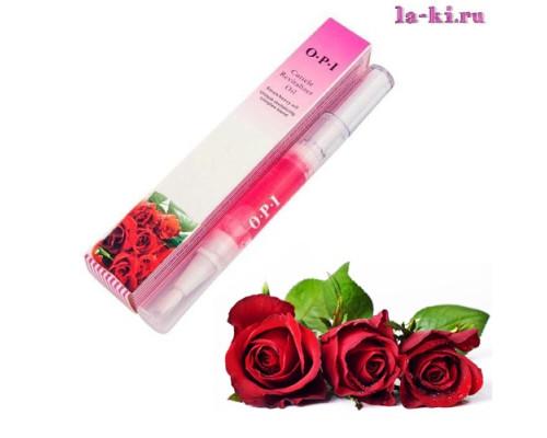Масло для кутикулы OPI/MDS Cuticle Revitalizer Oil карандаш с кисточкой 5 мл (Роза)