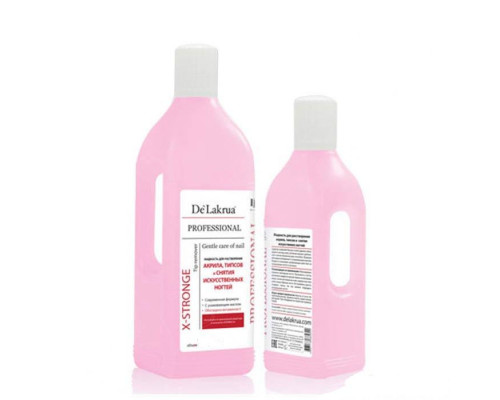 Жидкость De Lakrua для растворения акрила и снятия искусственных ногтей X-Stronge Tip Remover 1000 мл